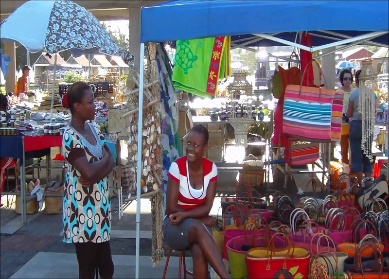 Market in Rodrigues in the Capital of rodrigues. Port mathurin. What to do