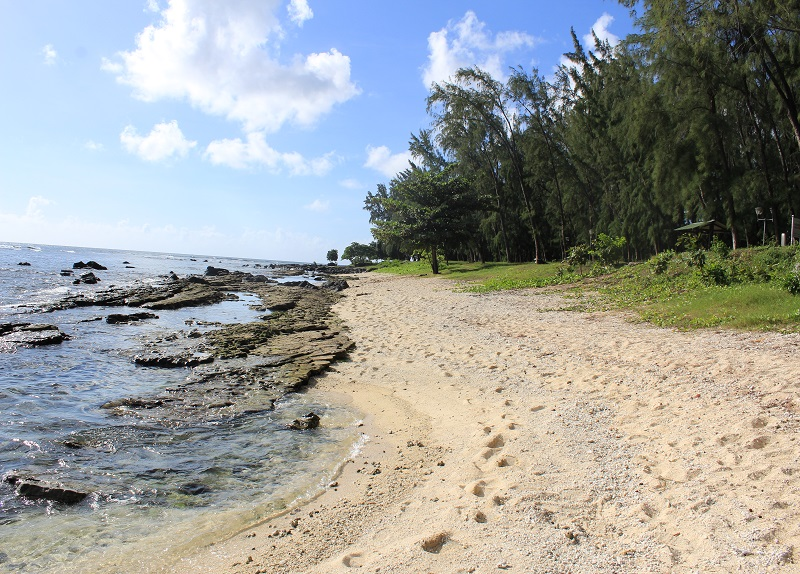 Pointe aux Piments beach in Mauritius