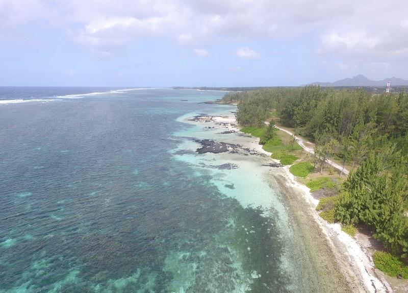 Roche Noire beach in Mauritius