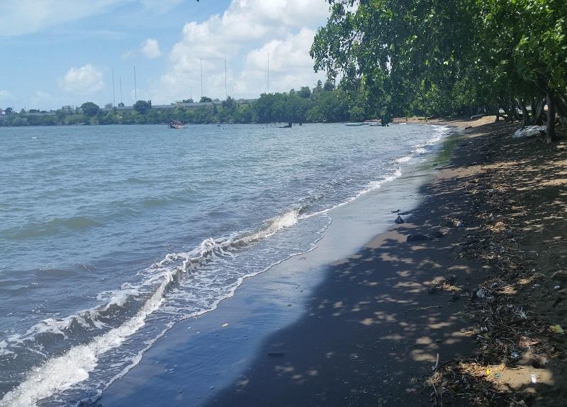 Sable noire beach in Mauritius
