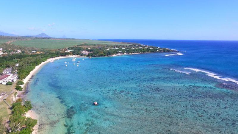 Albion beach in Mauritius