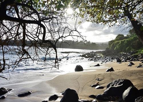 Souillac beach in Mauritius-min
