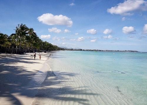 Trou aux Biches beach in Mauritius