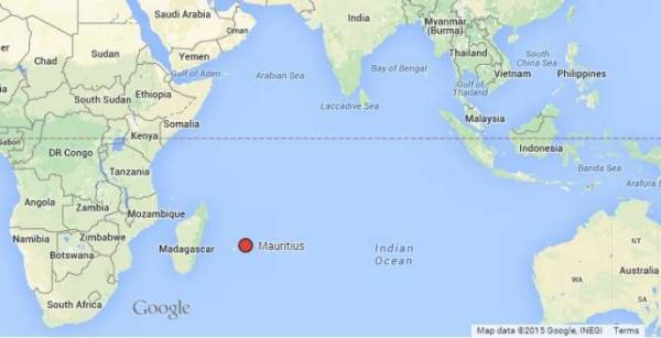 Where is Mauritius Location map of the island