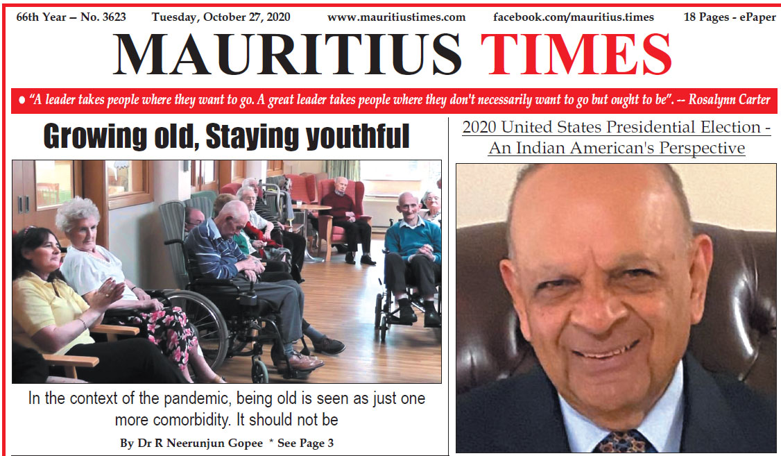 Free download — Mauritius Times ePaper – Tuesday 27 October 2020