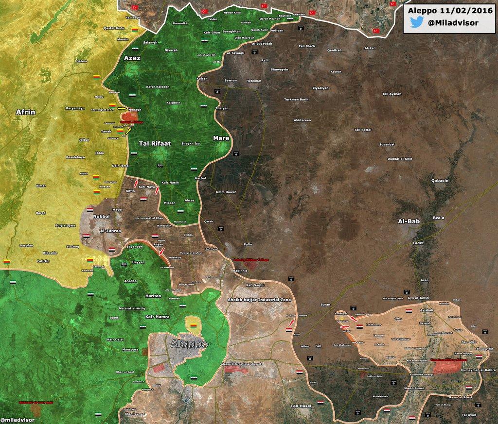 FOTO 4-Aleppo liberation map-11 febbraio 2016