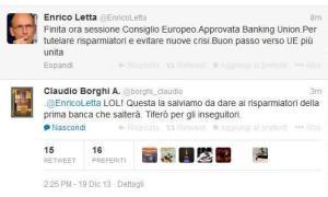 Il celebre tweet di Letta