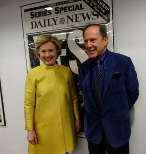 Mortimer Zuckerman con Hillary