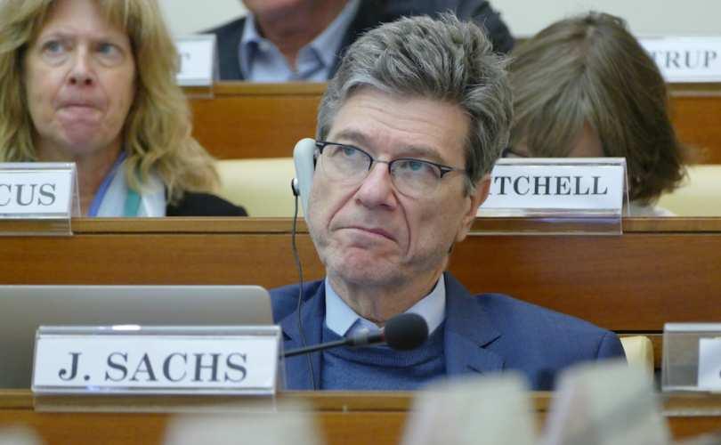 Jeffrey Sachs, il distruttore della Russia, oggi alla Pontificia Accademia.