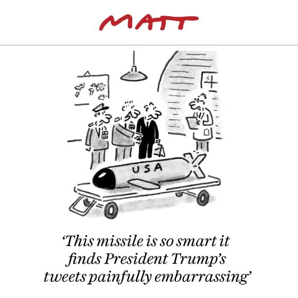 Telegraph: i missili sono più intelligenti di Donald.