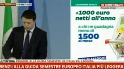 Renzi 1000 euro
