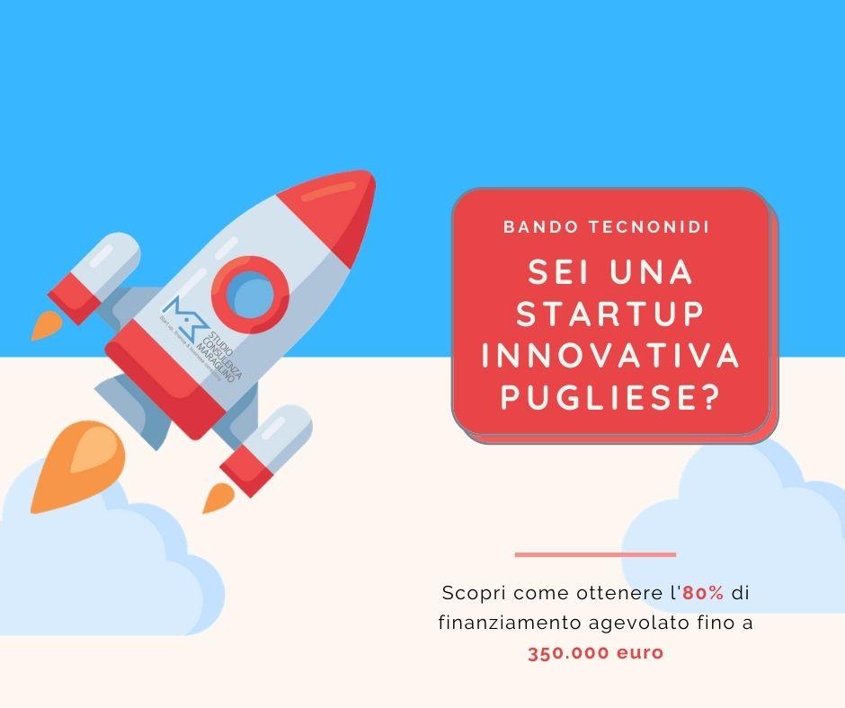 Bando TecnoNidi Regione Puglia per startup innovative