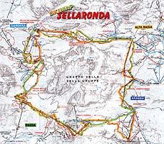 Mappa del Sellaronda