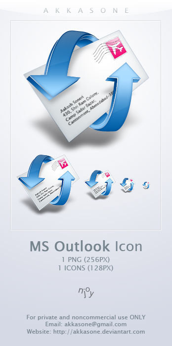 Freebies Icons - Windows Outlook --akkasone by ~Vande-Mataram
