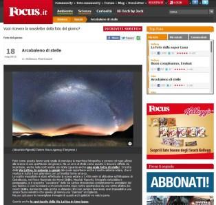 Pubblicazione Focus Italia