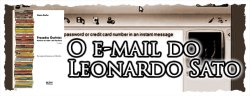O e-mail do Leonardo Sato