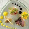 Variação sobre pato e manga em salada All Seasons by Christophe Besse Chef Christophe Besse