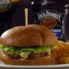 Black Burger Chips Burger