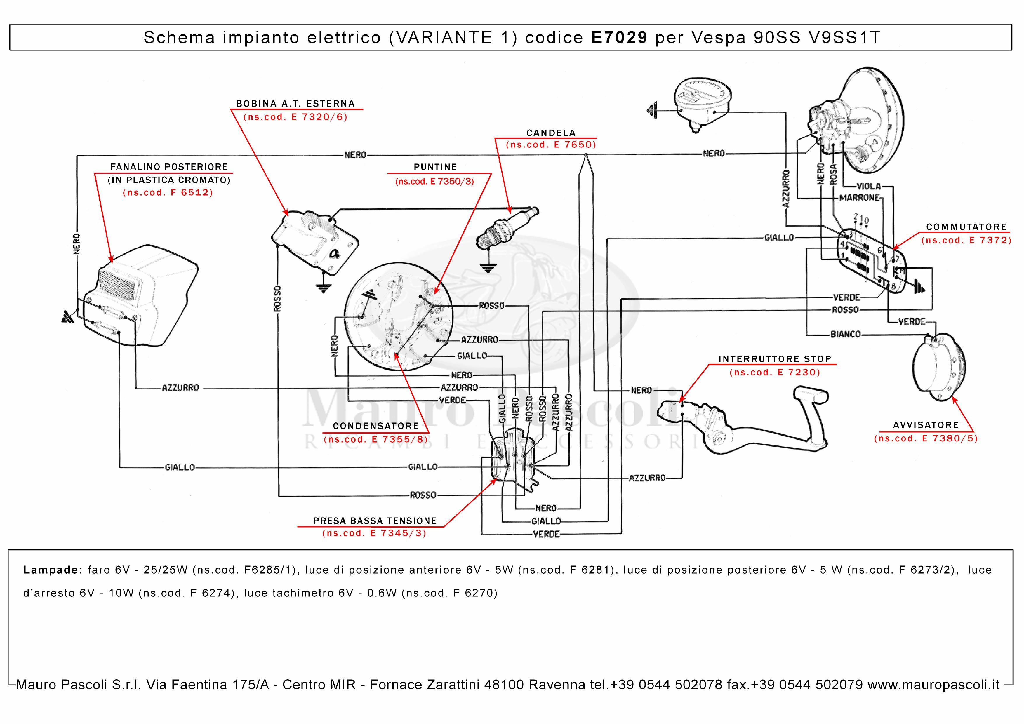 E7029 Ver.1 Vespa 90 SS V9SS1T