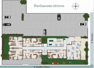 Apartamento em Cascavel Rua Maranhão - 2 quartos - Bairro Alto Alegre - Pavimento térreo