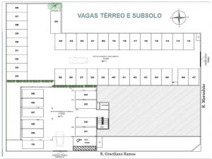 Apartamento em Cascavel Rua Maranhão - 2 quartos - Bairro Alto Alegre - Planta de subsolo
