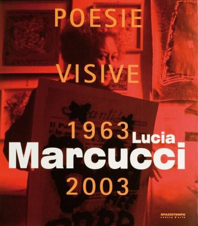 "Copertina catalogo ""POESIE VISIVE 1963/2003"" Lucia Marcucci"