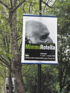 """Stendardo mostra """"OGGI COME OGGI"""" Mimmo Rotella 2001"""