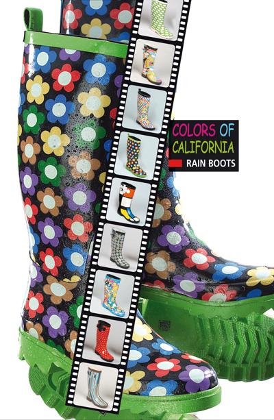 Colors of California: gli stivali pioggia Rainboots e le