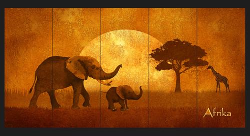 Afrika Motiv Wandgestaltung
