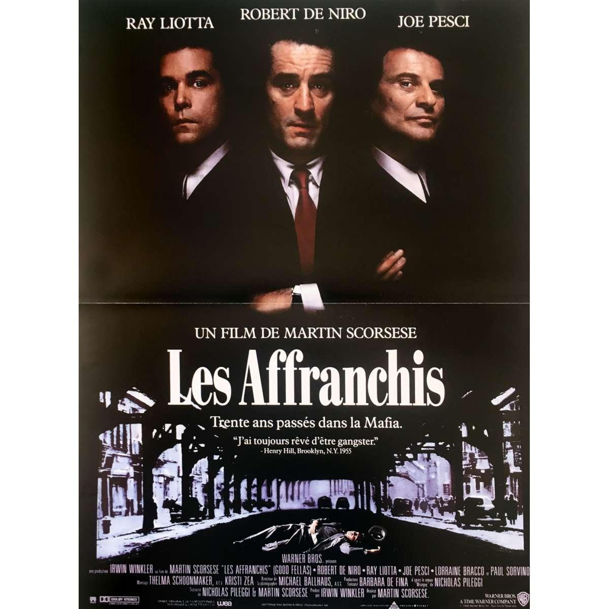 goodfellas movie poster 15x21 in 1990 martin scorsese robert de niro