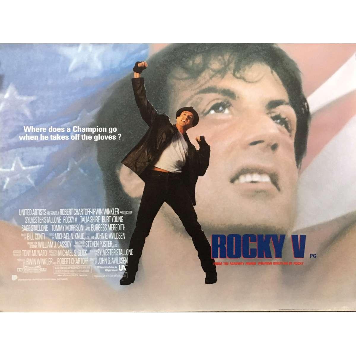 rocky v movie poster 30x40 in 1990 john g avildsen sylverster stallone