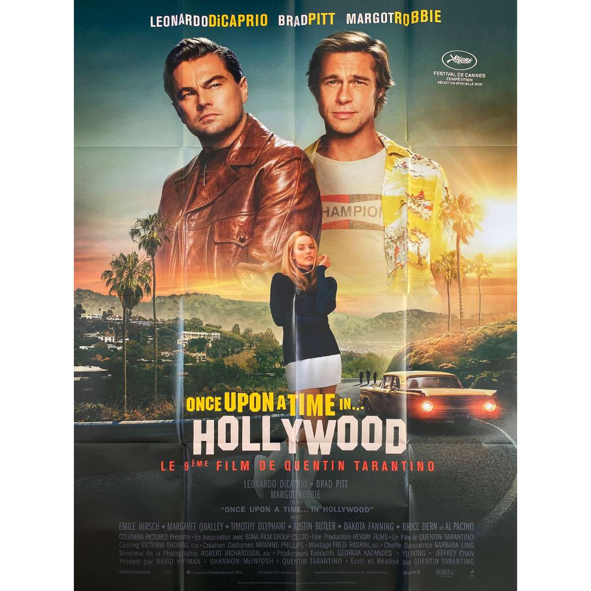 once upon a time in hollywood original movie poster 47x63 in 2019 quentin tarantino leonardo dicaprio