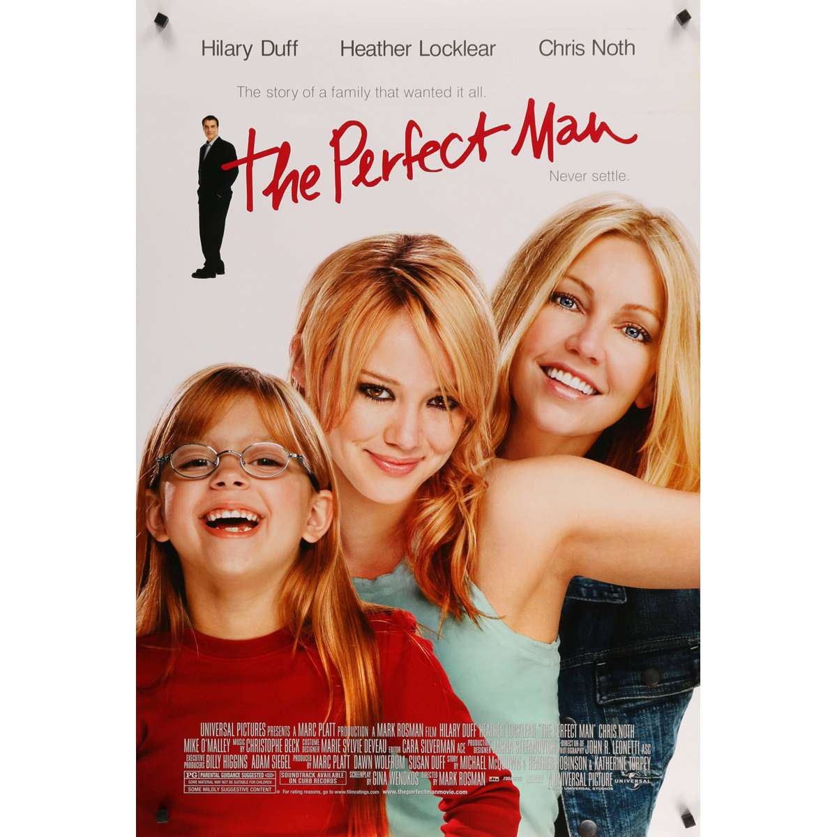 the perfect man original movie poster 27x40 in 2005 mark rosman hilary duff heather locklear