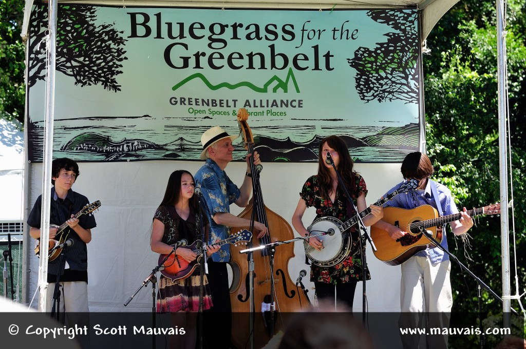 The Tuttle Family at Bluegrass for the Greenbelt