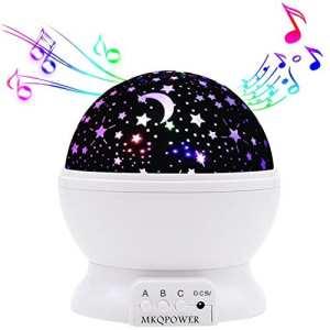 Musical lumière de nuit, Dstana Projecteur d'étoiles avec lumière chaude, Variation de couleur lumière, rotation, 12chansons pour se détendre, aide à la veille, Christams Cadeau pour bébés enfants