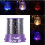 Cosmos romantique étonnant lune coloré Maître Star Sky Universal Night Light Kid Chidren lampe de projecteur Présent cadeau de Noël
