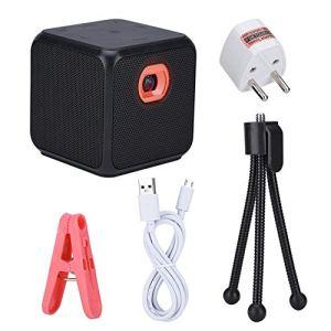 Bewinner Micro projecteur avec trépied, projecteur vidéo DLP de 30-120 Pouces Portable pour Le Support HDMI de Divertissement cinéma/Voyages/Carte/Bluetooth/Effet de cinéma(32G)
