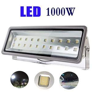 Projecteur LED, Super Brillant Dissipation Rapide La Chaleur Imperméable Floodlight Puce Ingénierie Jardin Lumière D'Inondatio (Color : Warm light-1000W)
