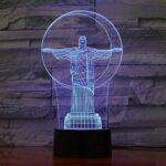 Accessoires de table de bureau Lumières de vélo Cadeaux de Noël Lampe de nouveauté 7 couleurs changeantes Veilleuse Lumière d'ambiance 3D Lampe tactile d'ambiance Décor à la maison avec télécomma