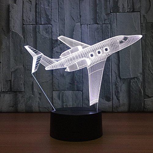Cool Air avion 3D LED veilleuse créative 3D Illusion lampe de Table de bureau pour bébé enfants sommeil lumière cadeau maison déco