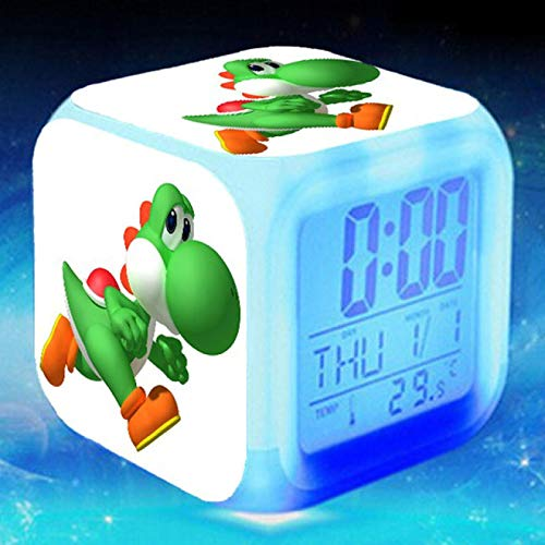 fonction réveil coloré veilleuse LED cadeau de Noël pour enfants jouets pour enfants réveil affichages numériques figurines accessoire brillant