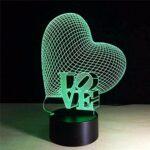 LWYX 3D LED nuit USB corail cheval 7 lumières à changement de couleur nouveauté sans fil applique murale pour enfants veilleuse atmosphère lampe de bureau-B21