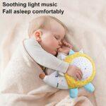 N/J Sucette de Projection, Machine sonore de Sucette de bébé, Sucette de Projection et de mélodies, veilleuse de projecteur de lit de bébé en Peluche, Jouet apaisant pour bébés et Tout-Petits