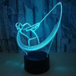 Nouveau Golf 3D Veilleuse Coloré Tactile Cadeaux Créatifs 3D Petite Veilleuse Led 7 Changement De Couleur Lampe Pour Enfants