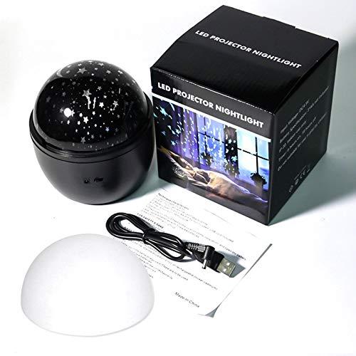 Projecteur LED Star Sky Night Light, lampe à changement de couleur apaisante rotative à 360 ° pour le mariage de la chambre à coucher de la scène