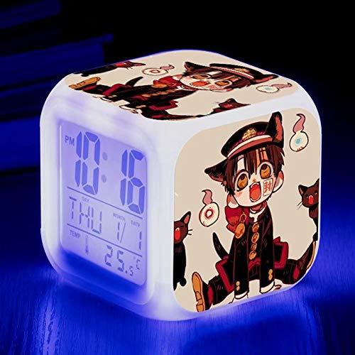 Ventes chaudes Réveils mignons Alarm Réveil à changement de couleur , Changement de couleur Lumière de réveil , Affichage de la température du calendrier