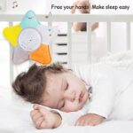 Sucette de sommeil pour bébé avec veilleuse projecteur d'étoiles et musique, machine à bruit blanc, jouet en peluche pour garçons et filles cadeau de fête prénatale