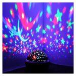 AQHXLS PROJECTEUR PROJECTEUR Projet DE PROJECTEUR Stocker Starry Sky Patch Enfants Enfants Baby Sleep Romantique LED USB Lumière étanche (Color : Pink)