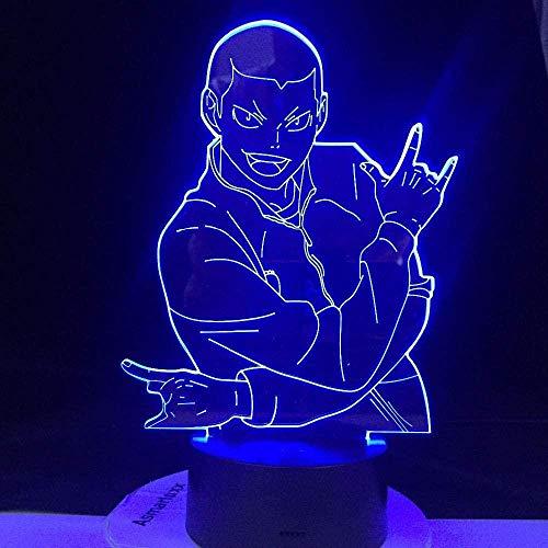 BTEVX 3D Illusion Night Light Figure Led Veilleuse pour la Décoration Intérieure Couleur Changeante Cadeau pour Enfants Enfant Lampe Smart Touch 7 Couleurs Jouet Lampe pour Garçons Cadeaux