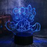Mignon Mickey & Minnie Mouse Cartoon 3D LED Veilleuse nouveauté Table Lampe de bureau Anniversaire Lampe de Noël Enfant Décoration de la Maison